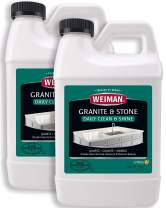 Weiman Granite Cleaner and Polish - 64 Ounce (2 Pack) Safely Cleans and Shines Granite Marble Soapstone Quartz Quartzite Slate Limestone Corian Laminate Tile Countertop