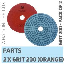 "Stadea PPW122D Diamond Polishing Pads 4"" For Concrete Terrazzo Marble Stone Granite Countertop Floor Wet Polishing, Grit 200 - Pack of 2"