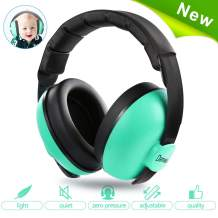 Baby Ear Protection,Noise Cancelling Headphones for Kids for 0-3 Years Babies,Toddlers,Infant for Sleeping Airplane Concerts Theater Fireworks,Baby Earmuffs (Mint Green)