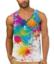 TUONROAD Mens Tank Tops Graphic Summer A-Shirts Tops Shirt for Beach Gym Fitness Bodybuilding Running Jogging