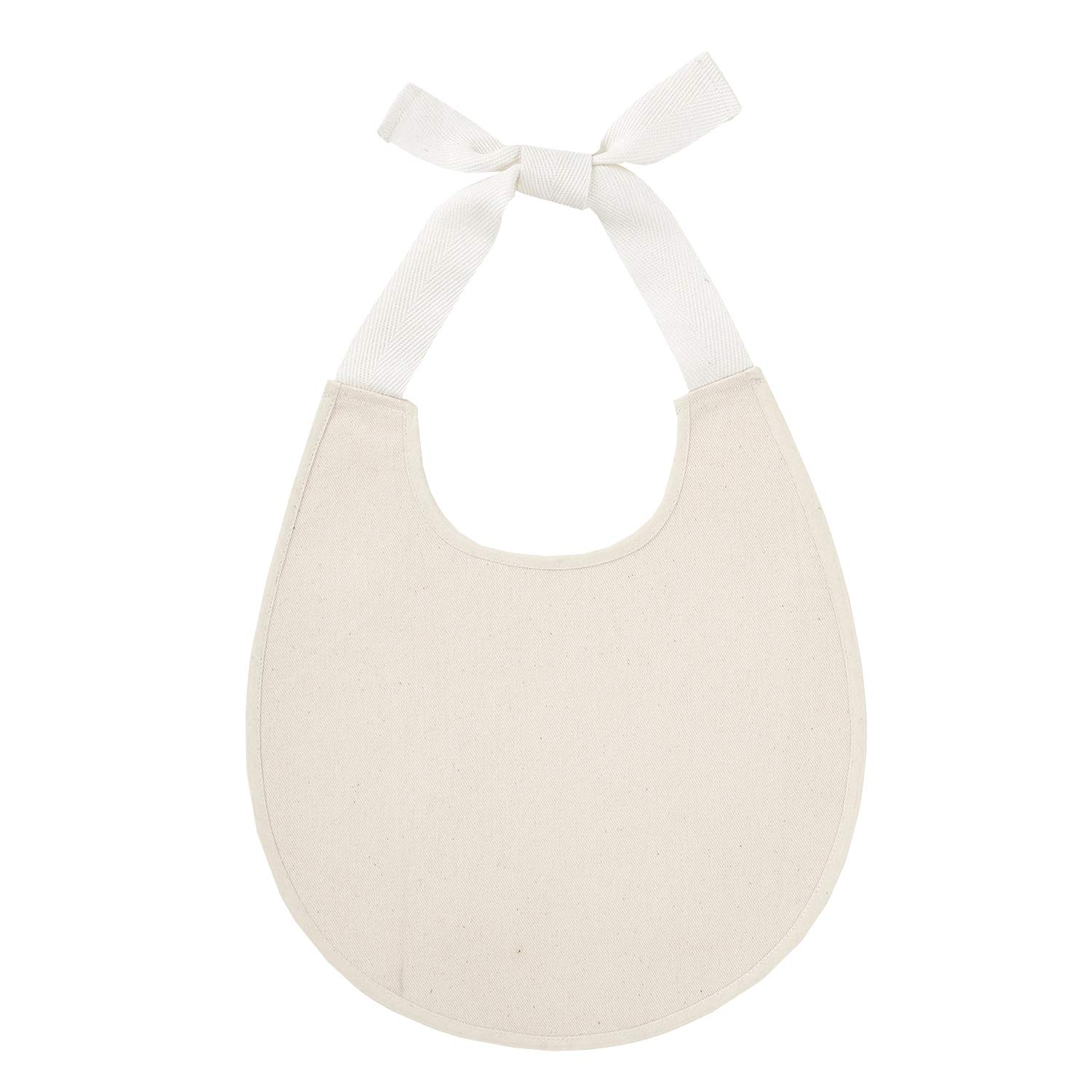 Stephan Baby Heirloomed Collection Cream Cotton Canvas Bib
