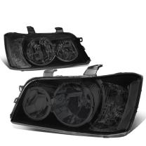 Replacement for Highlander 2.4/3.0L SUV Pair Smoked Lens Clear Corner Headlight Lamp