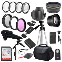 Commander Optics Premium DSLR Camera Accessory Bundle with 58MM Filters, Lenses, 32GB Sandisk SD Card and More for Canon 80D and Canon 90D (58MM Lens Kit with LP-E6N Battery Pack)