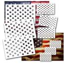 Star Stencil American Flag Star Stencil 50 Stars 9pcs Plastic Leaflai for Painting on Wood/DIY Drawing Painting Craft Projects/Fabric/Airbrush/Reusable Stencil 3 Large 3 Medium 3 Small