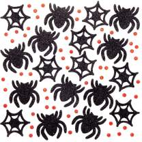 Baker Ross Halloween Glitter Foam Spider Decoration Stickers | Kids Fun Arts & Crafts Project | No Glue or Scissors Needed | Pack of 100 Creepy Critters