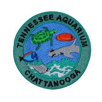 Tennessee Aquarium Chattanooga Patch Travel Badge Embroidered Iron On Applique