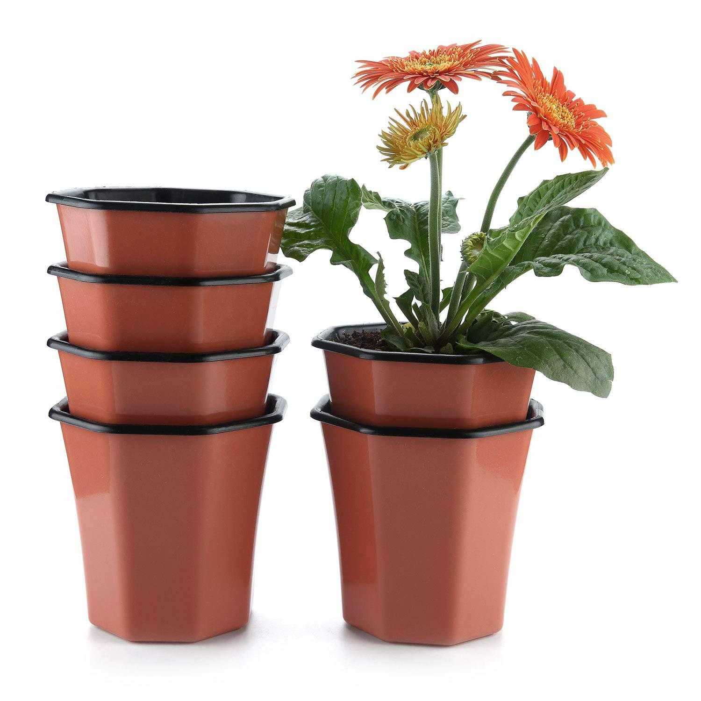 100pcs Garden Nursery  Flowerpot Seedlings Growth Bulk Planter Container New