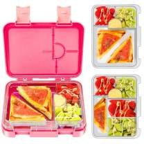 Bento Box for Kids, Tritan-Made 100% BPA Free Lunch Box for kids, Removable Large Capacity Inbox Design, Durable, Meal and Snack Packing (PINK)