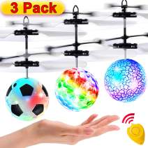 3 Pack Flying Ball Kids Toys RC Flying Toys Hand Control Helicopter Infrared Induction Childrens Day Gift for Boys RC Flying Light Up Toys Indoor Outdoor Games Remote Control Drone Rechargeable