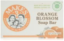 Organic Orange Blossom Soap Bar 4 Pack - Superfood for the Skin - 100% Handcrafted in USA - Citrus & Floral Smells - Calming Aroma - Promotes Healthy Sleep & Reduces Headaches (Organic Soap 4 Pack)