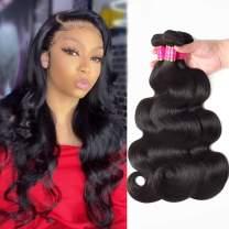 TodayOnly 10A Grade Peruvian Hair Body Wave 3 Bundles (20/20/20 inch) 100% Unprocessed Virgin Human Hair Peruvian Bundles Remy Weave Hair Bundles, Natural Black Color