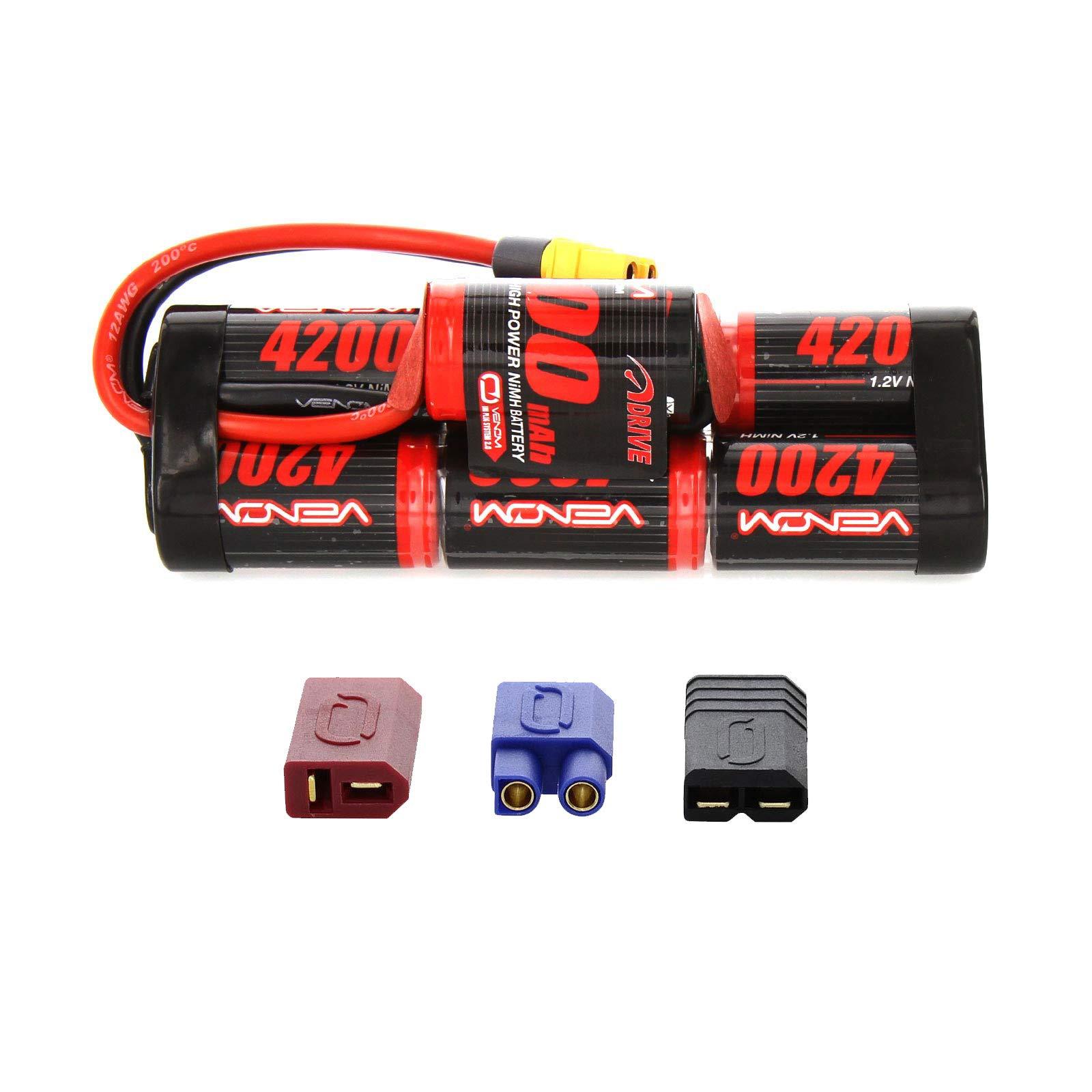 Venom 8.4V 4200mAh 7-Cell Hump Pack NiMH Battery with Universal Plug (EC3/Deans/Traxxas/Tamiya)
