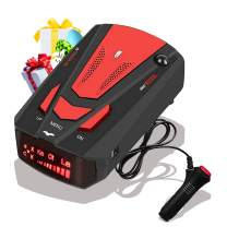 [2021 New Version] Laser Radar Detector for Cars,Voice Prompt Speed, 3 Speed Control, Compact and Space Saving, Oscillating Tower Fan with Remote Control & Timer Function for Home and Office Use (Red)