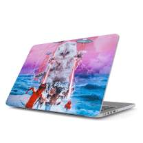 Glitbit Hard Case Cover Compatible with MacBook Pro 15 Inch Case Release 2016-2018, Model: A1990 / A1707 with Touch Bar Laser Cat Alien UFO Space Cats Kitten Galaxy Cosmic Trippy Kitty