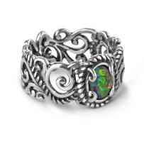 Carolyn Pollack Sterling Silver Rope and Scroll Band Ring Size 05 to 10