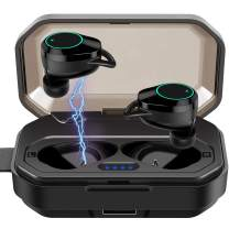 Wireless Earbuds Bluetooth 5.0 Headphones 6D Stereo Sound Deep Bass IPX7 Waterproof Touch Control Weight Light in-Ear Earbuds for Gym Running with 3000mAh Charging Box