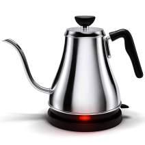 Electric Gooseneck Kettle - 1L, 120 Volt, Stainless Steel Electric Tea Kettle - Water Pot Heater/Warmer, Coffee & Tea