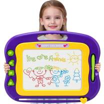 Wellchild Magnetic Drawing Board,Toddler Toys for Girls Boys 3 4 5 6 7 Year Old Gifts Large Etch A Magnet Sketch Colorful Erasable Doodle Pad with Carry Bag (DA001)