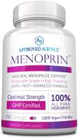 Menoprin - Rapid Menopause Relief - Relief Hot Flashes & Mood Swings - 1 Bottle Menoprin Day - 60 Capsules