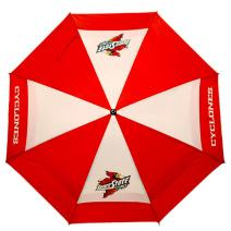 """Team Golf NCAA 62"""" Golf Umbrella with Protective Sheath, Double Canopy Wind Protection Design, Auto Open Button"""