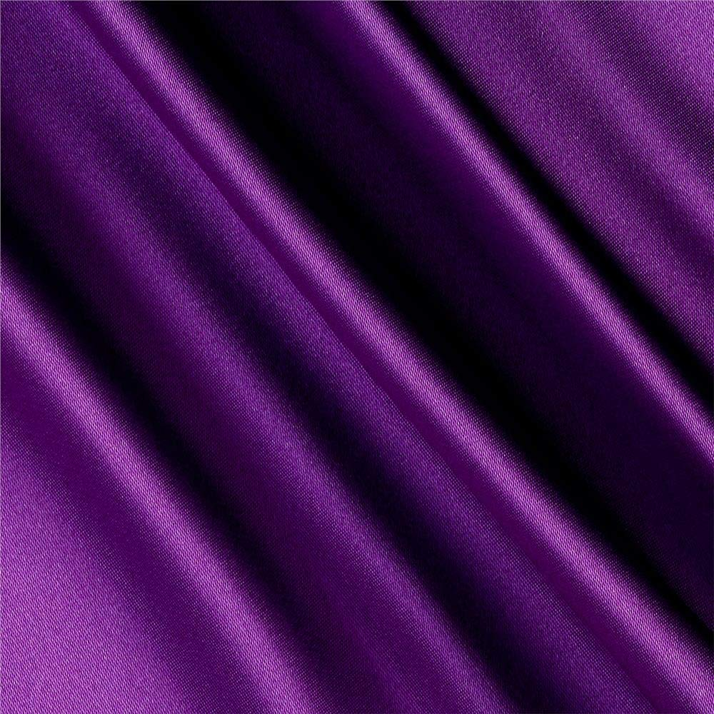 Shannon Fabrics Silky Satin Charmeuse Solid, Yard, Lavender