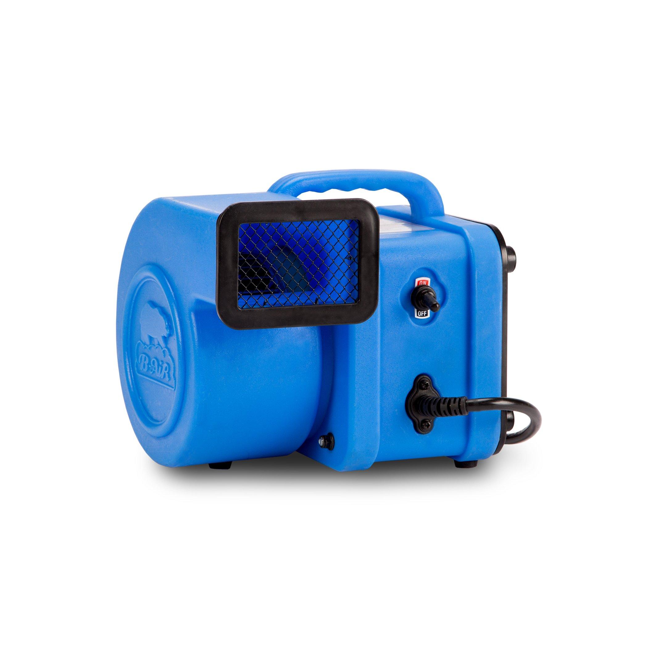 B-Air Flex 1/4 Blue, Flex Mini Air Mover, 1/4 hp, Blue