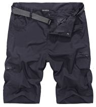 HOW'ON Men's Outdoor Hiking Shorts Expandable Waist Lightweight Quick Dry Shorts