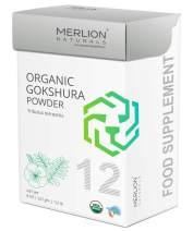 Organic Gokshura Powder by Merlion Naturals | Tribulus terrestris | 227gm/ 8OZ/ 1/2lb | USDA NOP Certified 100% Organic