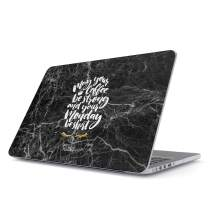 """Glitbit Hard Case Cover Compatible with MacBook Air 11 Inch Case, Model: A1370 / A1465 11-11.6 Inch 11"""" May Your Coffee Be Strong and Your Monday Inspirational Motivational Quotes About Coffe"""