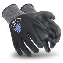 HexArmor Helix 1091 Foam Nitrile Coated Black Seamless Work Gloves, Small