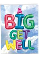 Inflated Messages - Balloon Get Well Greeting Card with Envelope (Big 8.5 x 11 inch) - Big Balloons, Feel Better Notecard From All of Us - Thinking of You Stationery for Kids, Adults J5651HGWG-US