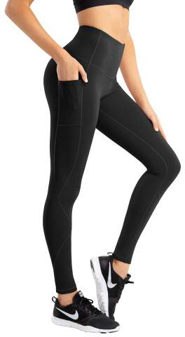 KMISUN High Waist Yoga Pants with Pockets Tummy Control Workout Pants for Womens 4 Way Stretch Leggings