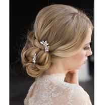 Aukmla Wedding Hair Pins Decorative Bridal Hair Accessories for Women and Girls (Pack of 3)