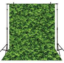 Allenjoy 5x7ft Vinyl Green Leaves Wall Spring Photography Backdrop Natural Background for Birthday Party Decorations Photo Studio Booth Props