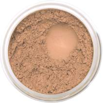 Bella Terra Mineral Powder Foundation | Long-Lasting All-Day Wear | Buildable Sheer to Full Coverage – Matte | Sensitive Skin Approved | Natural SPF 15 (Honey) 9 grams