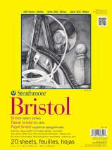 "Strathmore 300 Series Bristol Vellum Pad, 9""x12"", Tape Bound 20 Sheets"