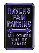Authentic Street Signs Steel Parking Sign Raiders/SACKED Parking Sign