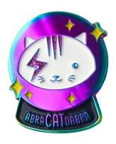 Tiny Bee Cards - Magical Crystal Ball Cat Enamel Pin Abra-CAT-dabra