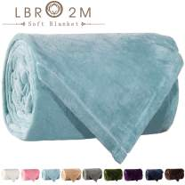 LBRO2M Fleece Bed Blanket King Size Super Soft Warm Fuzzy Velvet Plush Throw Lightweight Cozy Couch Blankets ((90x104 Inch) King, Turquoise)