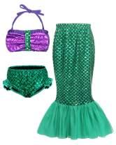 AmzBarley Girls Mermaid Swimsuits Princess Swimming Costume Outfit Dress