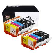 onino Compatible Ink Cartridge Replacement for Canon PGI 220 PGI-220 CLI-221 CLI 221 use with MP620 MP640 MP640R MP560 MX870 MP550 MP630 MP980 IP3600 IP4600 IP4700 4Black Cyan Magenta Yellow 10-Pack