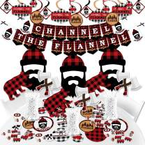 Big Dot of Happiness Lumberjack - Channel The Flannel - Buffalo Plaid Party Supplies - Banner Decoration Kit - Fundle Bundle