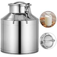 Mophorn 304 Stainless Steel Milk Can 10 Liter Milk bucket Wine Pail Bucket 2.6 Gallon Milk Can Tote Jug with Sealed Lid Heavy Duty