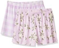 Selene Women's Sleepwear Soft 2 pcs Pajama Shorts Plaid Elastic Waist Bottoms Small-XX-Large