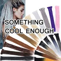 SEGO 20 Inch Dreadlock Extensions for Women/Men Synthetic Handmade Dread Extension Long Single Ended Hippie Style Reggae Hair #Ash Blonde 20 strands