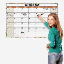 Large 24x36 Dry Erase Monthly Weekly Wall Calendar Undated (Floral), Reversible Wet and Dry Erasable Monthly-Weekly Planner, Laminated Wall Posters Calendar Reusable, Shipped Rolled Not Folded