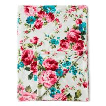 """Kids N' Such Minky Baby Blanket 30"""" x 40"""" - White Floral - Soft Swaddle Blanket for Newborns and Toddlers - Best for Girl Crib Bedding, Nursery, and Security - Plush Double Layer Fleece Fabric"""