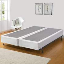 Greaton Assembled Wood Split Traditional Box Spring/Foundation For Mattress, Queen Size, Beige