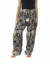 Lannaclothesdesign Women's Elephant Hippie Boho Yoga Harem Pants