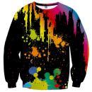 Neemanndy Unisex 3D Print Sweatshirt Men's Long Sleeve Crew-Neck Pullover Sweatshirt Casual Shirt Tops for Women